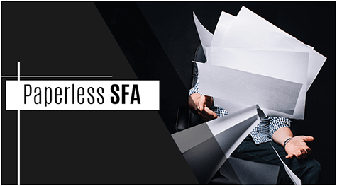 This One is for the Earth! Paperless SFA– Where Less is More!
